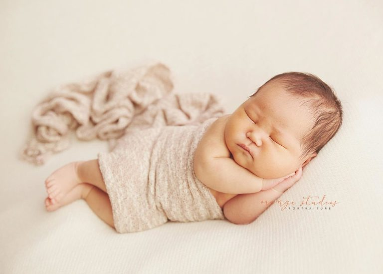 Chubby baby boy newborn portraits in singapore