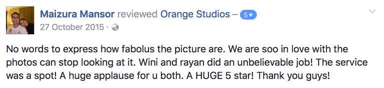 testimonials orange studios