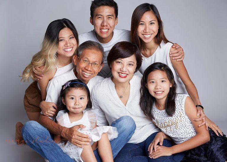 Happy family studio photoshoot in singapore