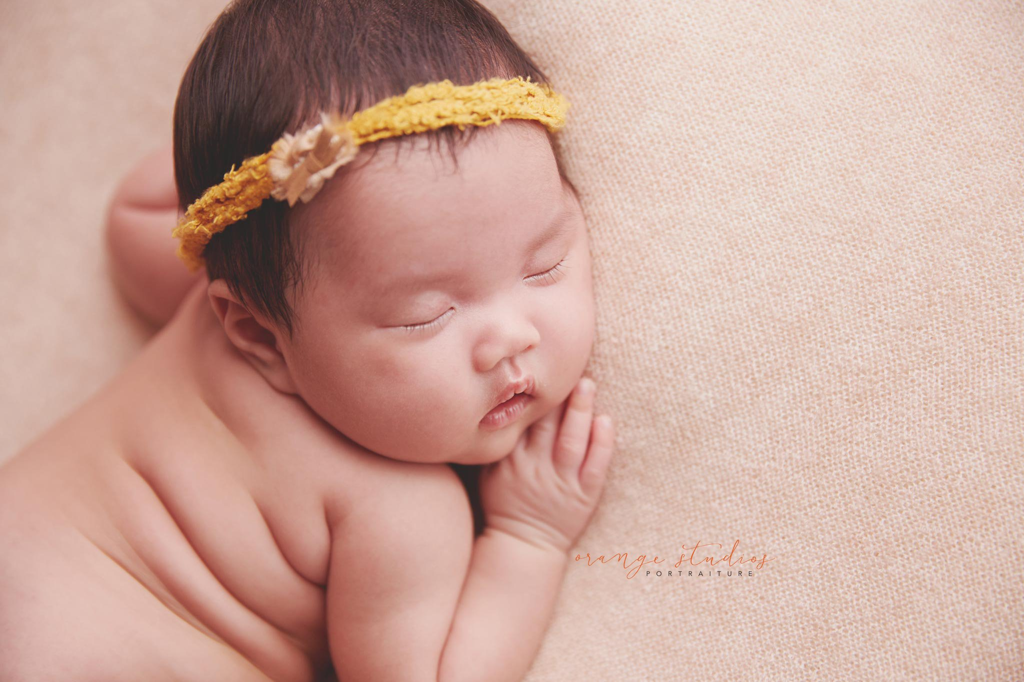 Chubby little abigail at 5 weeks old newborn photography