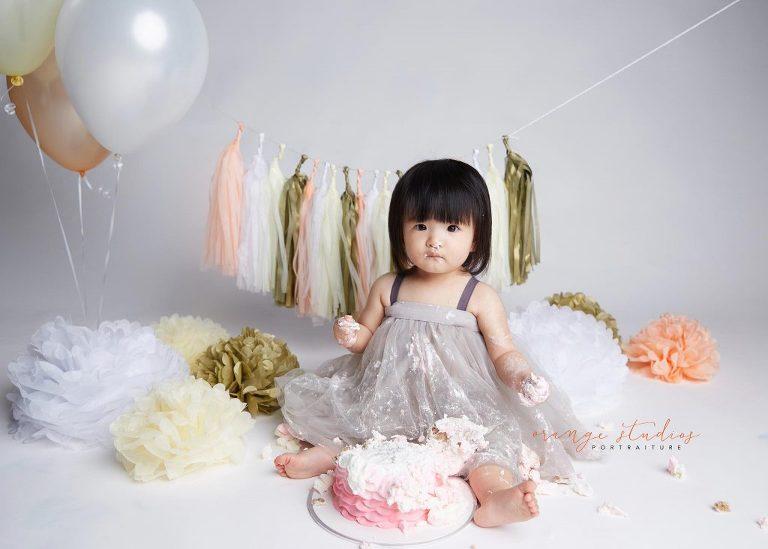 A Birthday Photo Shoot Cake Smash Photography Orange Studios